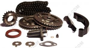 К-т для ремонта привода ГРМ 2103-2106, 2121 Classic (двухрядная цепь, сальник, башмак, пилот)