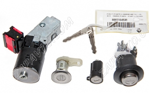 Замок зажигания Renault (в комплекте с цилиндрами замка, заготовка ключа без пульта) 806016453R