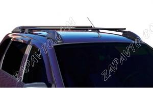 Ложементы багажника (рейлинги) 1117 Калина универсал с поперечинами (черные) Vamer
