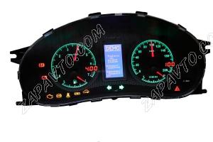 Комбинация приборов электронная 1118, 2112, 2170 FLАSH-X4 до июля 2012 г.в. (стрелочная, RGB-свет)