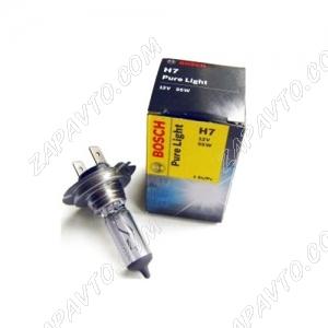 Лампа галогеновая H7 12-55 BOSCH Pure light (Quick)