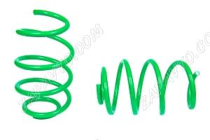 Пружины передних стоек 1119, 2170, 2190 ТЕХНО РЕССОР (драйв, зеленые -70мм) 2шт