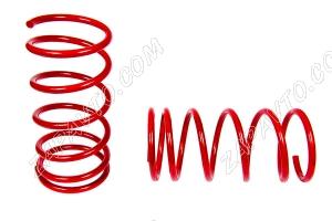 Пружины передних стоек 2108-2112 ТЕХНО РЕССОР (красные -30мм) 2шт