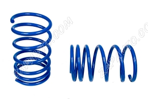 Пружины передних стоек 2108-2112 ТЕХНО РЕССОР (голубые -90мм) 2шт