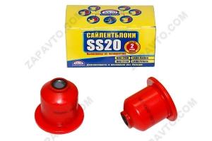 Сайлентблок заднего рычага 2108 SS20 (полиуретан, красный) в упаковке 2шт  70120