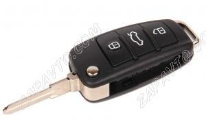 Ключ замка зажигания Ларгус выкидной, без платы, по типу Audi