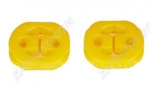 Подушка подвески глушителя 2170 VTULKA (полиуретан, желтая) 2 шт. 17-08-127