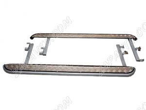 Пороги 2123 Шевроле Нива рестайлинг (с 2009 г) с алюминиевым листом