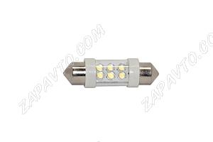 Светодиод - FE-Т10 12 V LED LAMP 6 диодов (салон, номерной знак)