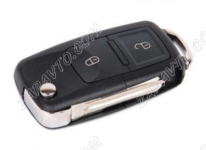 Ключ замка зажигания Ларгус выкидной, с платой по типу Volkswagen, 2 кнопки