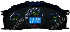 Комбинация приборов электронная 1118, 2112, 2170 FLАSH2 до июля 2012 г.в. (авто-евросвет) (зел.)