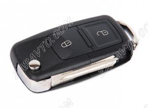 Ключ замка зажигания 1118, 2170, 2190-люкс, DATSUN, 2123 (выкидной) (по типу Volkswagen, 2 кнопки)