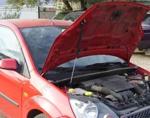 "Упор капота Ford Fiesta (2001-2009) (в сборе с кронтштейном) ""ТехноМастер"""