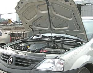 Упор капота Ларгус (2012), Renault Logan (2004-) (в сборе с кронштейном) ТехноМастер