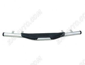 Защита заднего бампера Ларгус Уголки 63,5 мм Металл-Дизайн