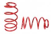 Пружины передних стоек Volvo S40, Ford Focus2, 3, Mazda2, 3 ТЕХНО РЕССОР (красные -30мм) 2шт