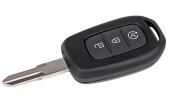 Ключ замка зажигания Renault HITAG 3 PCF 7961 (хром) 3 кнопки