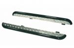 Пороги УАЗ Патриот с алюминиевым листом 63,5 мм (до 2015 г.) Металл-Дизайн