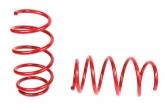 Пружины передних стоек Kia Rio, Hyundai Solaris ТЕХНО РЕССОР (красные -30мм) 2шт