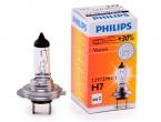 Лампа галогеновая H7 12-55 +30% PHILIPS PREMIUM