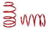 Пружины передних стоек Kia Cerato 2 ТЕХНО РЕССОР (красные -30мм) 2шт