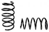 Пружины передних стоек Ларгус, Renault Logan (стандарт, черные) 2шт
