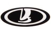 Эмблема на колесо рулевое 1118 Калина (черная) (большая)