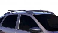 Ложементы багажника (рейлинги) 2191 Гранта лифтбек с поперечинами (черные) Vamer 165х18х17