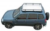 Багажник экспедиционный с алюминиевым листом 2123 Шеви Нива
