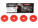 Втулка амортизатора заднего 2110, перед. 2101 SS20 (бублики) (красные,полиуретан) 4шт  70116
