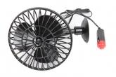 """Вентилятор автомобильный CityUP (на присоске, 12V, 4"""", лопасти 10х16 см) пластиковый корпус"""