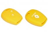 Чехол ключа зажигания силиконовый Largus, Renault, Nissan, желтый