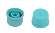 Колпачок клапана кондиционера L (на ниппель, голубой)