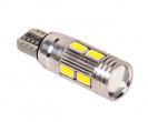 Лампа светодиодная T10 W5W без цоколя с обманкой (габарит, плафон)