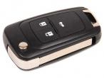 Ключ замка зажигания Opel (выкидной без платы, 3 кнопки, с наклейкой)