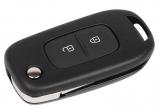 Ключ замка зажигания Renault HITAG 3 PCF 7961 (выкидной, хром) 2 кнопки