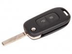 Ключ замка зажигания Renault Megane 2016, Twingo 2014 HITAG 3  PCF 7961 (выкидной, хром) 2 кнопки