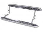 """Пороги 2123 Шевроле Нива рестайлинг (с 2009 г) с алюминиевым листом 63,5 мм """"Металл-Дизайн"""""""