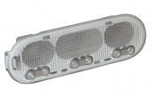 Плафон освещения салона Ларгус, Renault, Nissan (люкс) тройной, потолочный 8200073234