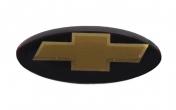 Эмблема на колесо рулевое 2123 Шевроле Нива (черная)