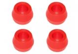 Втулка амортизатора заднего 2101 конусная С.П.Б (полиуретан красный) 4шт.  VZ-1-0-107-80