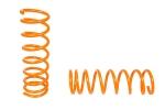 Пружины задней подвески 2108-2112, Калина, Приора ТЕХНО РЕССОР (оранжевые -50мм) 2шт