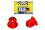 Сайлентблок заднего рычага 2110, 2170,1118 SS20 (полиуретан, красный) в упаковке 2шт  70121