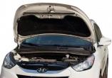 """Упор капота Hyundai ix35 (2010-) одинарный, в сборе с кронштейном """"ТехноМастер"""""""