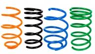 Пружины передних стоек Kia Rio, Hyundai Solaris ТЕХНО РЕССОР (зеленые -70мм) 2шт