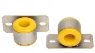 Втулка штанги стабилизатора с кронштейном 2170 Приора (тюнинг, полиуретан, 22мм) 2шт.