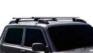 Ложементы багажника (рейлинги) 2121 Нива с поперечинами (серебристые) Vamer 165х18х17