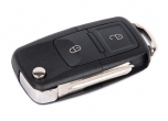 Ключ замка зажигания Ларгус выкидной, без платы, по типу Volkswagen, 2 кнопки