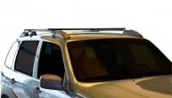 Ложементы багажника (рейлинги) 2123 Шевроле Нива с поперечинами (черные) Vamer 176х18х17