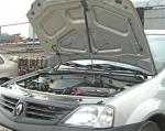 Упор капота Ларгус (2012), Renault Logan (2004-) с кронштейном ТехноМастер